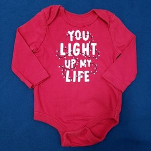 😍3-6M Christmas Onesie | You light up my life